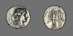 Tetradrachm (Coin) Depicting the Goddess Persephone