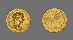 Aureus (Coin) Portraying Emperor Trajan