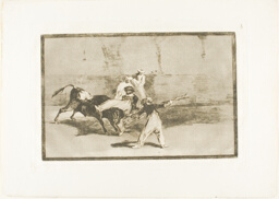 A Moor Caught by the Bull in the Ring, plate 8 from The Art of Bullfighting