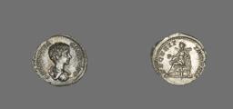Denarius (Coin) Portraying Emperor Geta