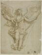 Spandrel Design with Allegorical Figure of Fame (recto); Design for Coat of Arms (verso)