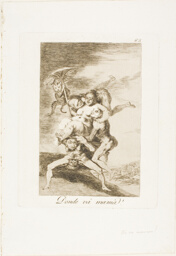 Where is Mother Going?, plate 65 from Los Caprichos