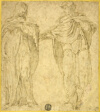 Two Standing Draped Figures (Saint John and the Magdalene?)