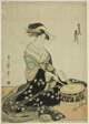 The Courtesan Kisegawa of the Matsubaya, from an untitled series of courtesans of the Matsubaya as five musicians