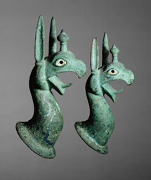 Pair of Protomes Depicting the Forepart of a Griffin