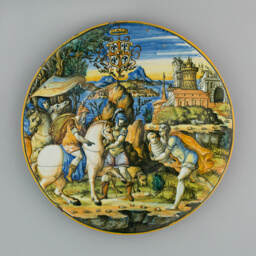 Plate with Story of Numa Pompilius and Arms of Gonzaga