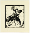 Jewish Dancer - print #21 of 52 in the 1936 Calendar of The Chicago Society of Artists