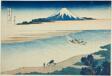 "Tama River in Musashi Province (Bushu Tamagawa), from the series ""Thirty-six Views of Mount Fuji (Fugaku sanjurokkei)"""