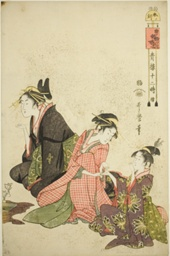 "Hour of the Sheep (Hitsuji no koku), from the series ""Twelve Hours in Yoshiwara (Seiro juni toki tsuzuki)"""