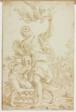 Sacrifice of Isaac (recto); Figure Sketches (verso)