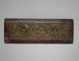 Buddhist Manuscript Cover with the Bodhisattvas Avalokiteshvara and Manjushri