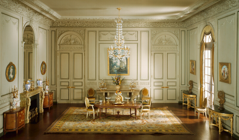 E 23 French Dining Room Of The Periods Louis XV And XIV