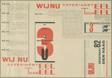 Advertisement for Wij Nu, Experimenteel Tooneel, Den Haag