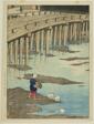 "Gion Bridge, Amakusa, from the series ""Selection of Scenes of Japan"" (Nihon fukei senshu, Amakusa hondo Gionbashi)"