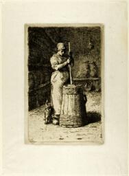 A Woman Churning