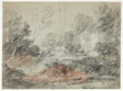 Landscape with Buildings by a Stream