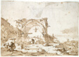 A Capriccio with a Ruined Gothic Arch