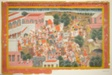 Four Princes in Procession Visit a Sage, page from a copy of the Ramayana