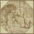 Hercules Felling King Diomedes