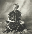 Sitting Man with Pink Face, New Guinea