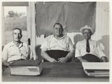 F.C. Nelson, Commissioner; Cecil Faris, Mayor; and H.W. Coleman, Commissioner, Town Hall, Tomball, Texas