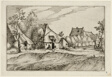 Farms in a Village, plate eight after Pictures of Farms, Country Houses and Rustic Villages (Praediorum villarum et rusticarum casularum icones)
