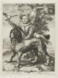 Vries, Frederik de (died 1613) son of the painter Dirck de Vries, pupil of Goltzius, with Goltzius's dog