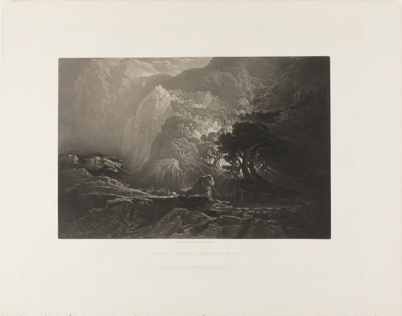 Moses And The Burning Bush From Illustrations Of Bible