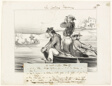 An Encounter in Open Water, plate eleven from Les Canotiers Parisiens