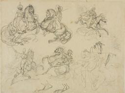 Sketches of Oriental Horsemen
