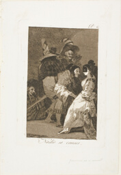Nobody knows himself, plate six from Los Caprichos