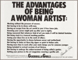 The Advantages of Being a Woman Artist