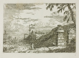 Landscape with Tower and Two Ruined Pillars, from Vedute