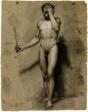 Standing Male Nude (recto); Classical Head (verso)