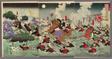 Fierce Fighting at Anseong Crossing in Korea (Chosen Anjo watashi no gekisen no zu)