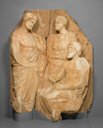 Fragment of a Funerary Naiskos (Monument in the Shape of a Temple)