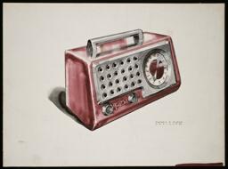 Fada Radio Design, Red Radio: Presentation Drawing