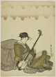 Woman playing shamisen, from an untitled series of women at leisure