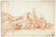 Dock Scene (recto); Two Sketches of Male Figures (verso)