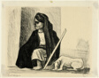 Woman, Beggar and Dog