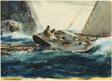 Fishing Boat on Heavy Sea
