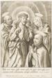 Ignatius of Loyola kneeling before Christ, the Virgin and St Peter
