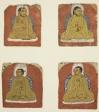 Four Miniature inscribed portraits of four Lamas