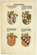 Coats of Arms of Bishops (recto and verso) from Das Concilium so zu Constantz, plate 26 from Woodcuts from Books of the XVI Century