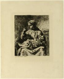 Woman Feeding Her Child