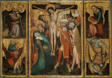 Triptych of the Crucifixion with Saints Anthony, Christopher, James and George