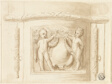 Base of Pilaster with Relief, with 2 Putti, Shield