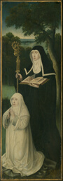 Saint Gertrude of Nivelles and an Augustinian Canoness