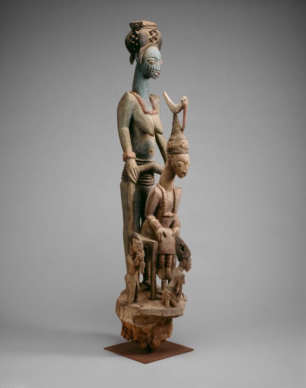 Calendar Stone Ap Art History : Veranda post of enthroned king and senior wife opo ogoga