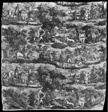 La Chasse à Rouen (Hunting at Rouen) (Furnishing Fabric)